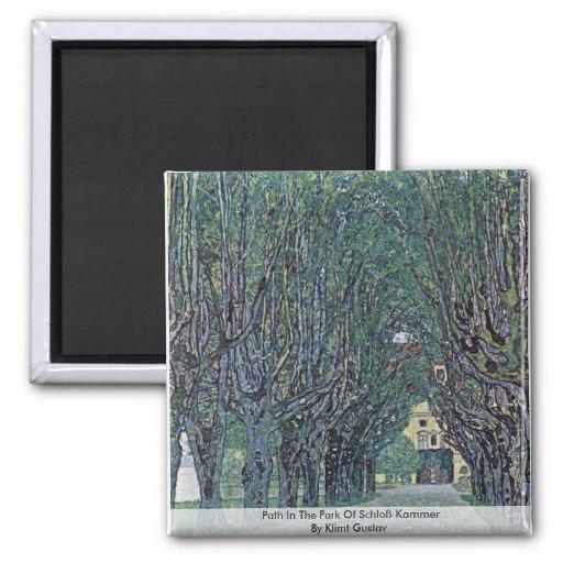Path In The Park Of Schloß Kammer By Klimt Gustav Refrigerator Magnets