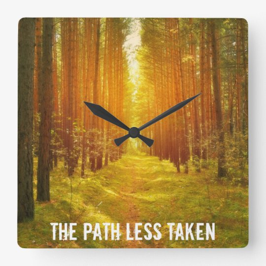 Path in the Woods Clock