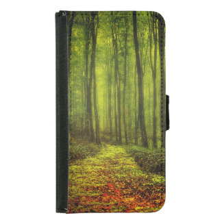 Path In Woods Samsung Galaxy S5 Wallet Case