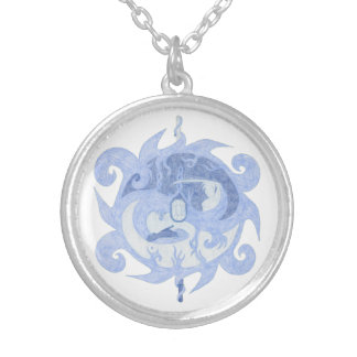 """Path of a Hero"" Emblem Silver Plated Necklace"