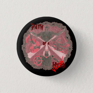"""Path of a Hero"" Villains Emblem (with title) 1 Inch Round Button"