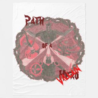 """Path of a Hero"" Villains Emblem (with title) Fleece Blanket"