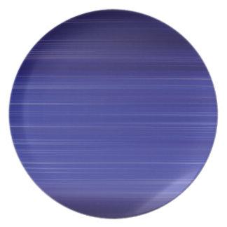 Path of blue lights plate