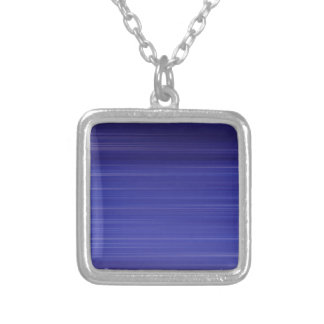 Path of blue lights silver plated necklace