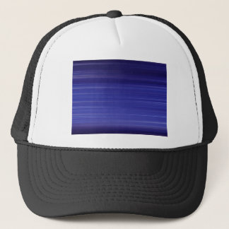Path of blue lights trucker hat