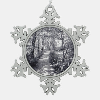 Path of Faith Pewter Snowflake Ornament