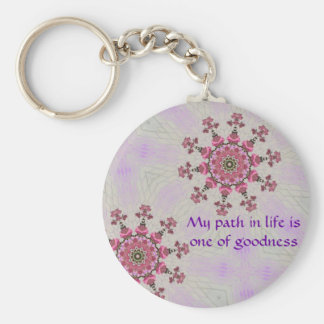 Path of goodness Key ring Basic Round Button Keychain