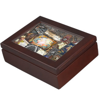 Path of Life Collage Keepsake Boxes