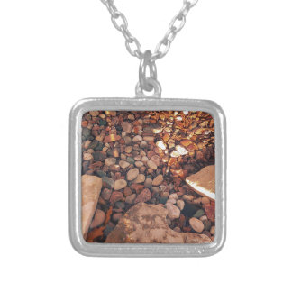 Path Of Pebbles Silver Plated Necklace