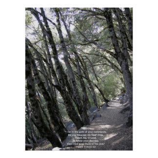 Path Poster with Psalm 119:32