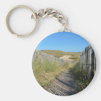 Path the dunes of Quiberon in France Keychain