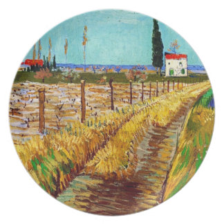 Path through a Field with Willows Van Gogh Plate