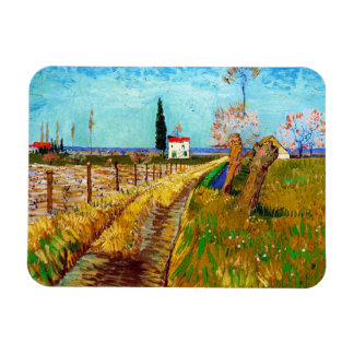 Path through a Field with Willows Van Gogh Rectangular Photo Magnet