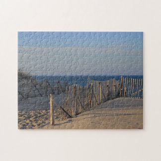 Path through the dunes to Race Point Beach Jigsaw Puzzle