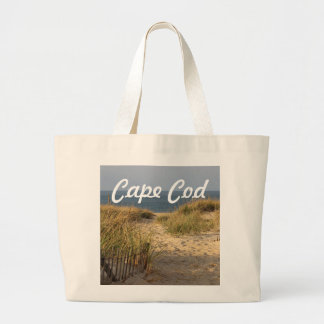 Path through the dunes to Race Point Beach Large Tote Bag