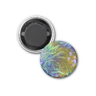 Path through the Irises Claude Monet 1 Inch Round Magnet