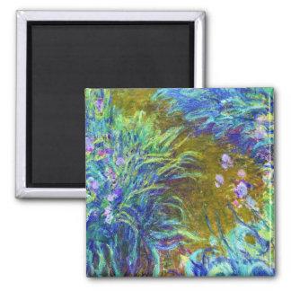 Path through the Irises Claude Monet Square Magnet