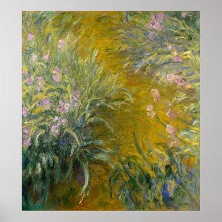 Path through the Irises Poster