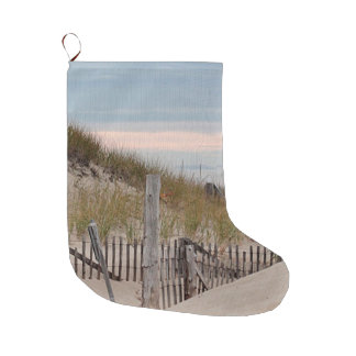 Path through the sand dunes large christmas stocking