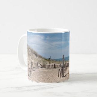 Path through the sand dunes to the beach coffee mug