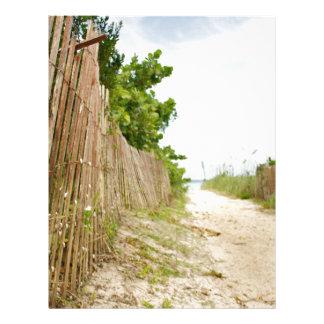 Path to Bliss on Florida Beach Custom Letterhead