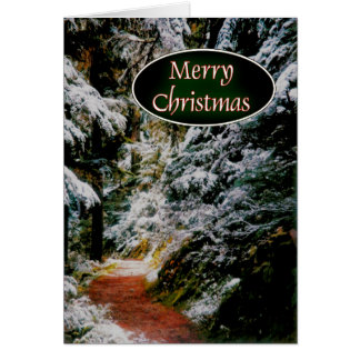 Path to Christmas Greeting Card