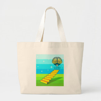 Path to God vector Large Tote Bag