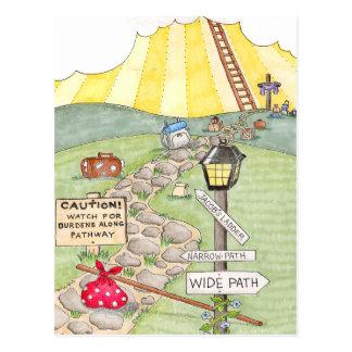 Path to the Cross Inspirational Postcard