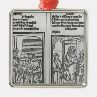 Pathelin and the Draper and Pathelin Silver-Colored Square Ornament