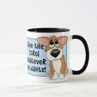Pathetic Eyes Corgi Mug