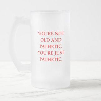 PATHETIC FROSTED GLASS BEER MUG