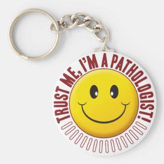 Pathologist Trust Smiley Keychain