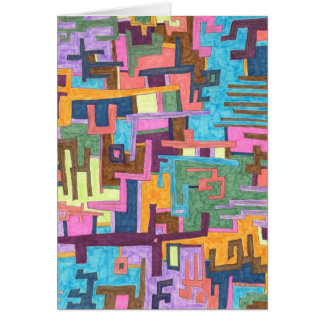 """Paths"" Abstract Art Card"