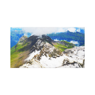 Paths in the Swiss alps Canvas Print