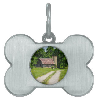 Pathway Through A Farm Pet Name Tag