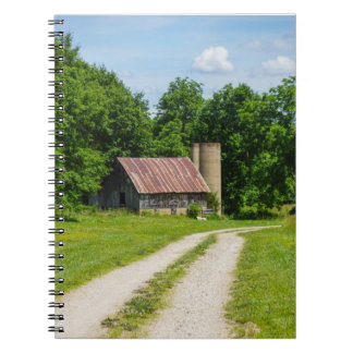 Pathway Through A Farm Spiral Notebook