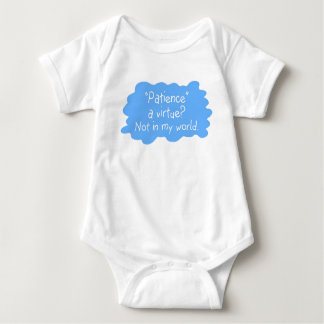 Patience a Virtue Blue Baby Bodysuit