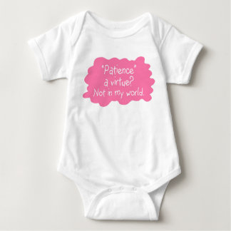 Patience a Virtue Pink Baby Bodysuit