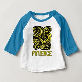 """Patience"" Baby 3/4 Raglan T-Shirt"