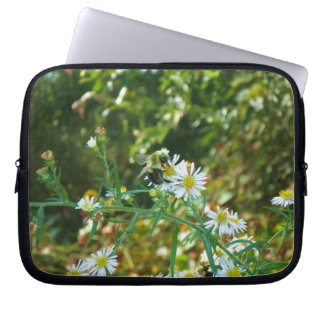 Patience Bee Floral Electronics Bag Laptop Computer Sleeves