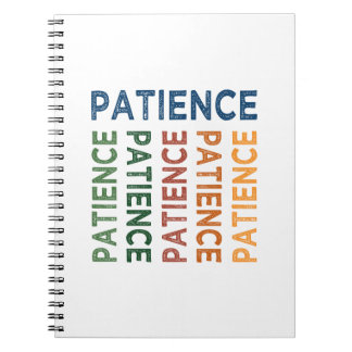 Patience Cute Colorful Spiral Note Book