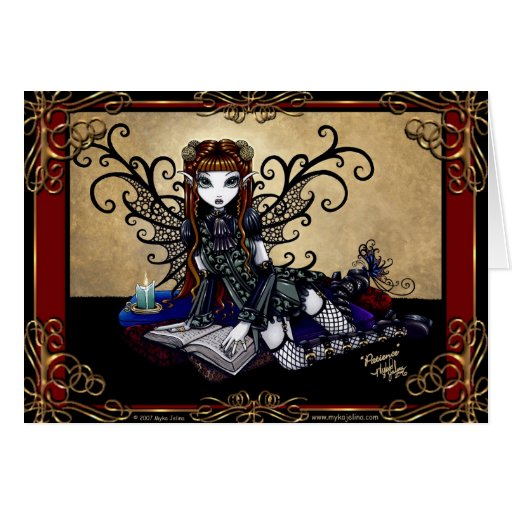 """""""Patience"""" Gothic Fairytale Card"""