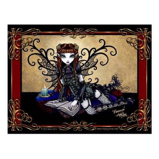 """Patience"" Gothic Fairytale Postcard"