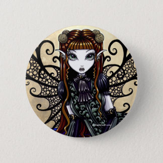 """Patience"" Gothic Victorian Fairy Art Button"