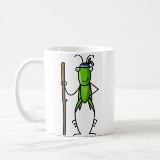 Patience, Grasshopper Mug Standing with Staff