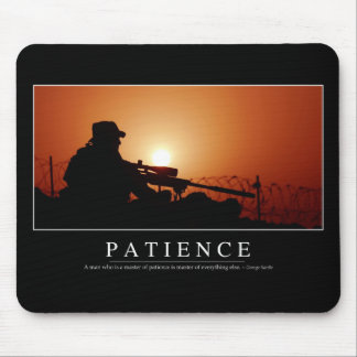 Patience: Inspirational Quote Mouse Pad