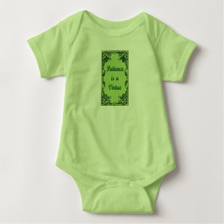 Patience is a virtue baby bodysuit
