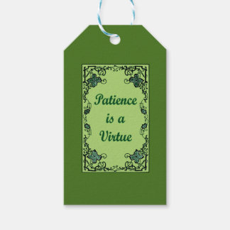 Patience is a virtue pack of gift tags