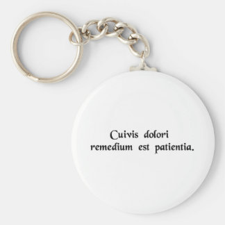 Patience is the cure for all suffering keychain