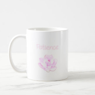patience lotus flower mug